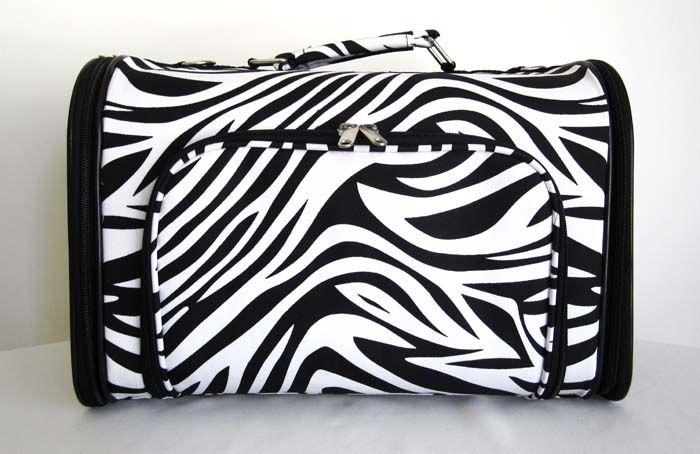16 Pet Luggage/Carrier Dog/Cat Travel Bag Purse Zebra