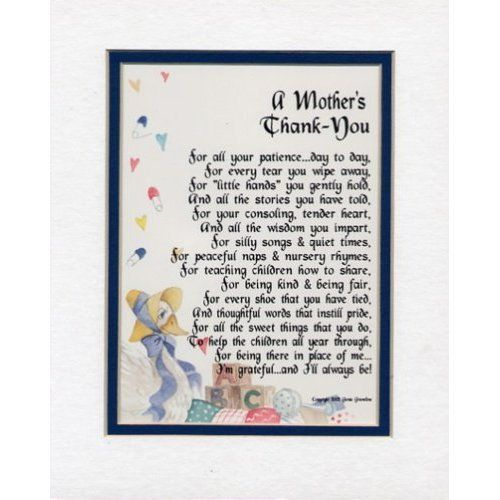 THANK YOU, daycare poem, childcare poem, preschool poems, daycare gift