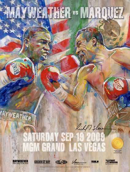 FLOYD MAYWEATHER vs JUAN MARQUEZ ON SITE FIGHT POSTER