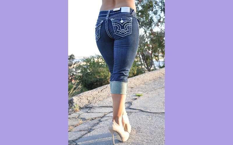 style la idol jeans capri 1208cp size 1 3 5 7 9 11 13 color dark blue