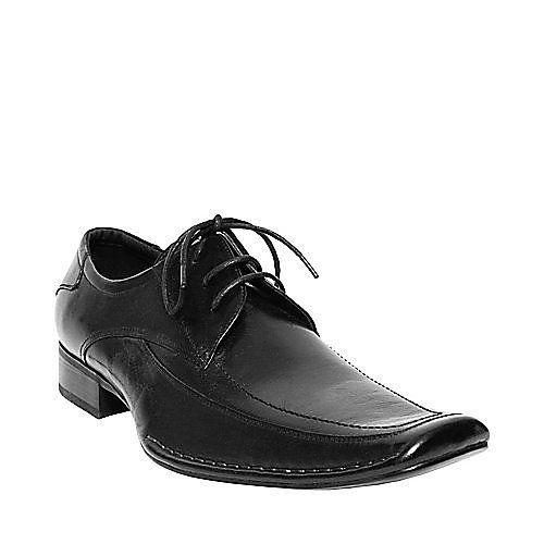 Mens Steve Madden BUFF Black Leather Shoes